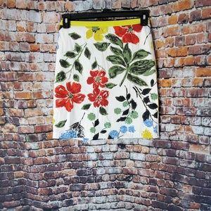 Boden Floral Skirt Size 4